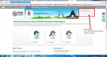 Pengumuman PPDB ON Line SMPN 1 Bojonegoro