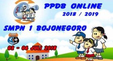 PPDB Jalur ONLINE SMPN 1 Bojonegoro  2018 - 2019.