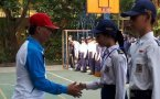 Pelantikan anggota dan reorganisasi pengurus PMR Madya SMP Negeri 1 Bojonegoro
