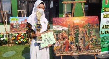 Juara 1 lomba melukis di Kodim 0813 Bojonegoro